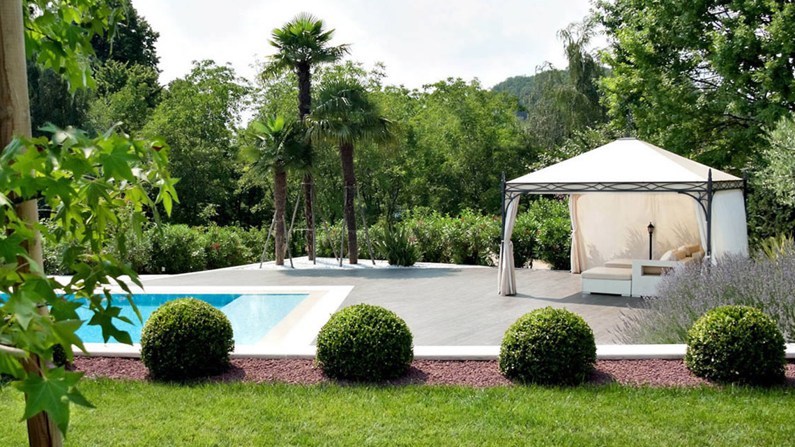 Gazebo in alluminio proverbio outdoor design