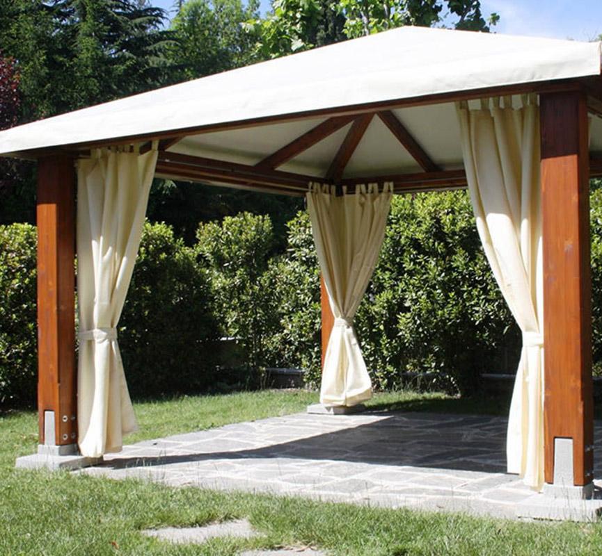 Gazebo in legno a Como - Proverbio Outdoor Design