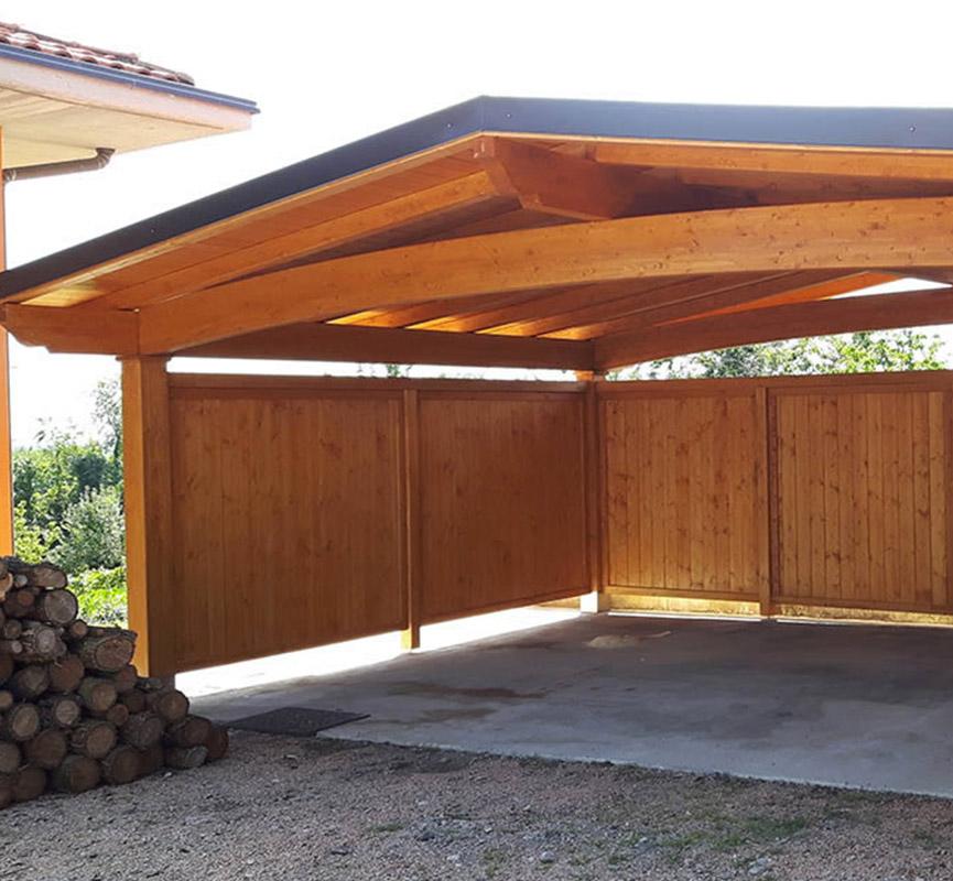 Copertura auto in legno a cermenate proverbio outdoor design for Coperture in legno per auto usate